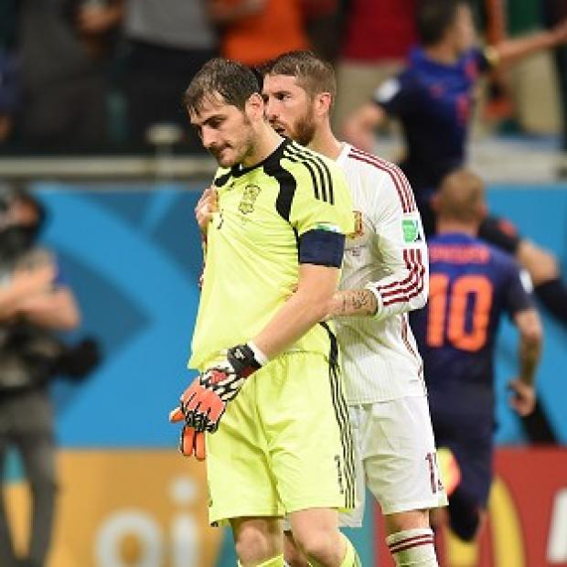 The Bolton News: Sergio Ramos, right, has lent his support to Iker Casillas