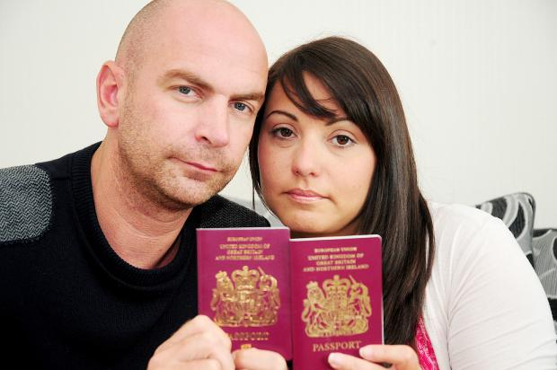 The Bolton News: Wesley and Heather Dyson back home with their passports