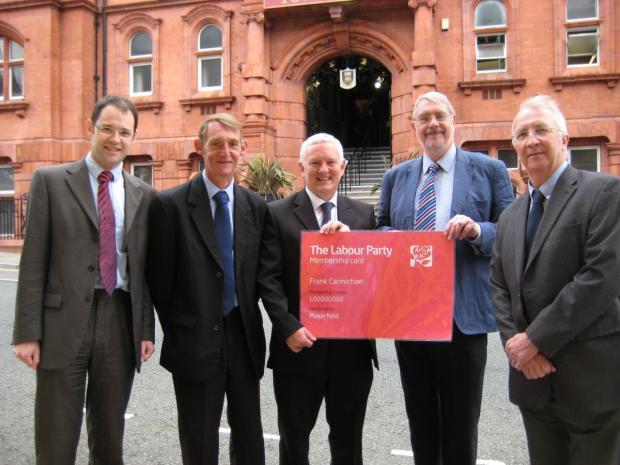 Clr Keir Stitt, Clr Jim Talbot, Clr Frank Carmichael, Lord Peter Smith and Clr David Molyneux.