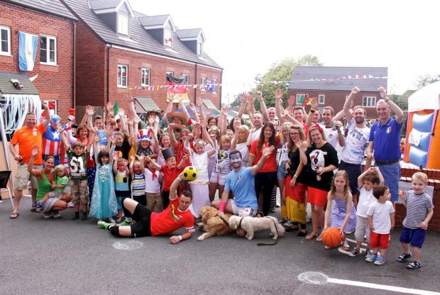 The Bolton News: Residents of Silver Birch Close having a great time