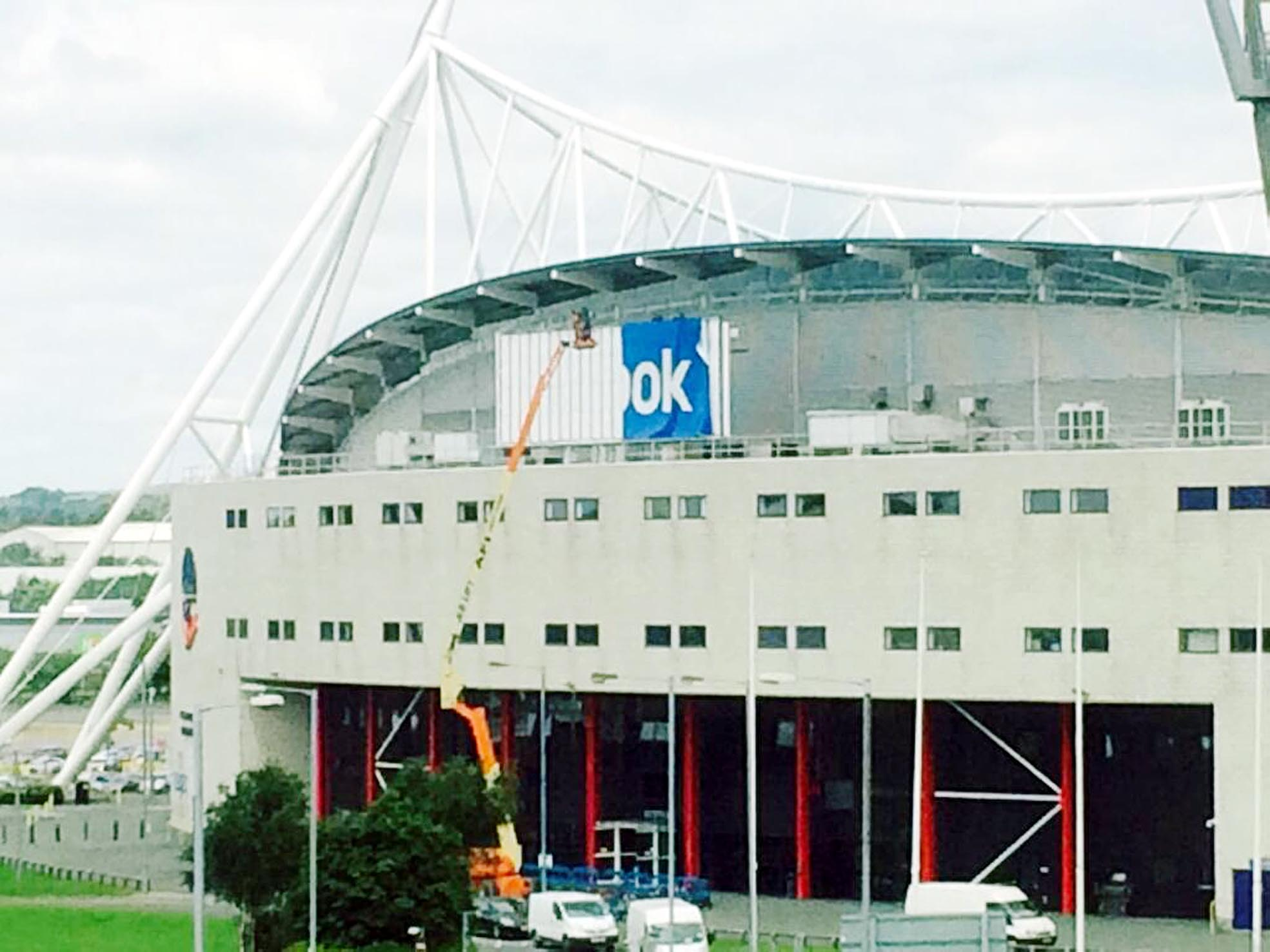 UPDATED: End of an era for Bolton Wanderers as Reebok Stadium sign is pulled down