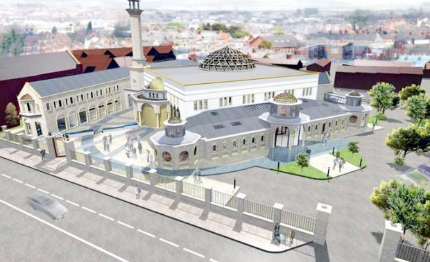 An artist's impression of the proposed mosque in Astley Bridge