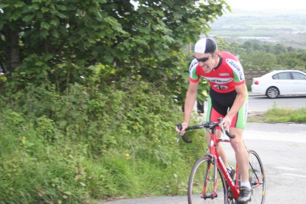 Adam Newall in the Matchmoor Climb. Pics courtesy of Horwich CC