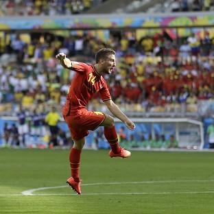 Belgium's Dries Mertens won the game for Belgium (AP)