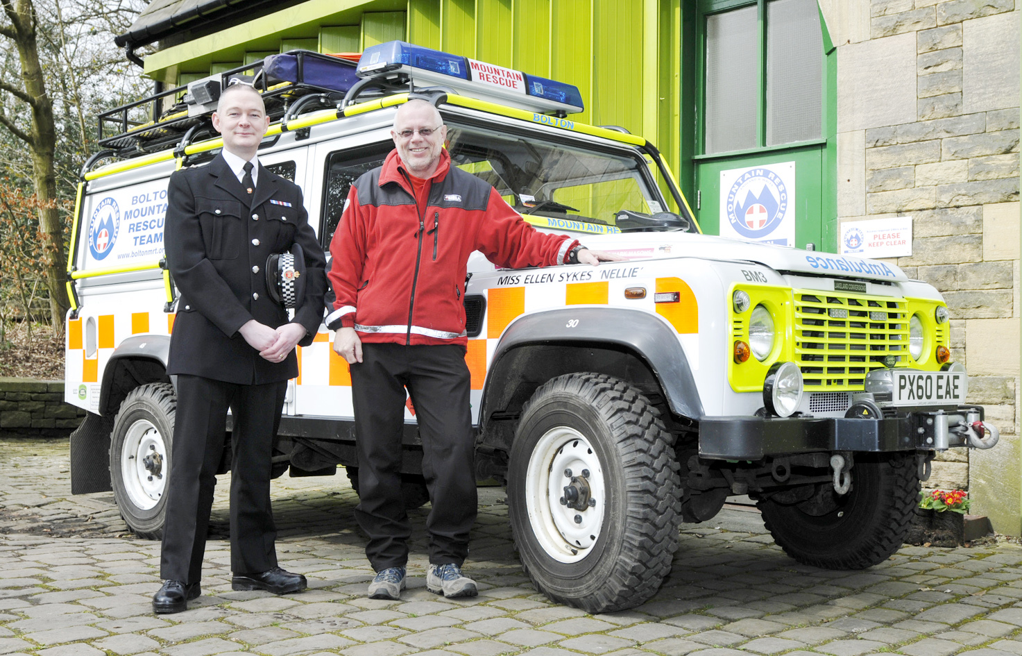 Insp Michael Eddleston and Garry Rhodes from Bolton Mountain Rescue Team