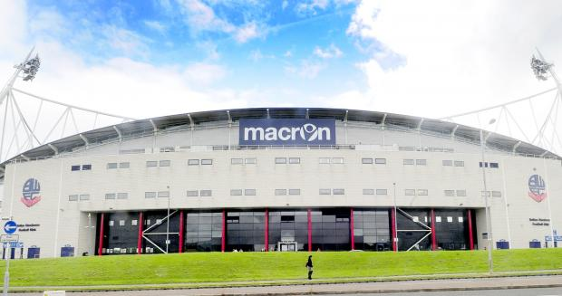 The Bolton News: The new Macron sign at the Reebok Stadium.