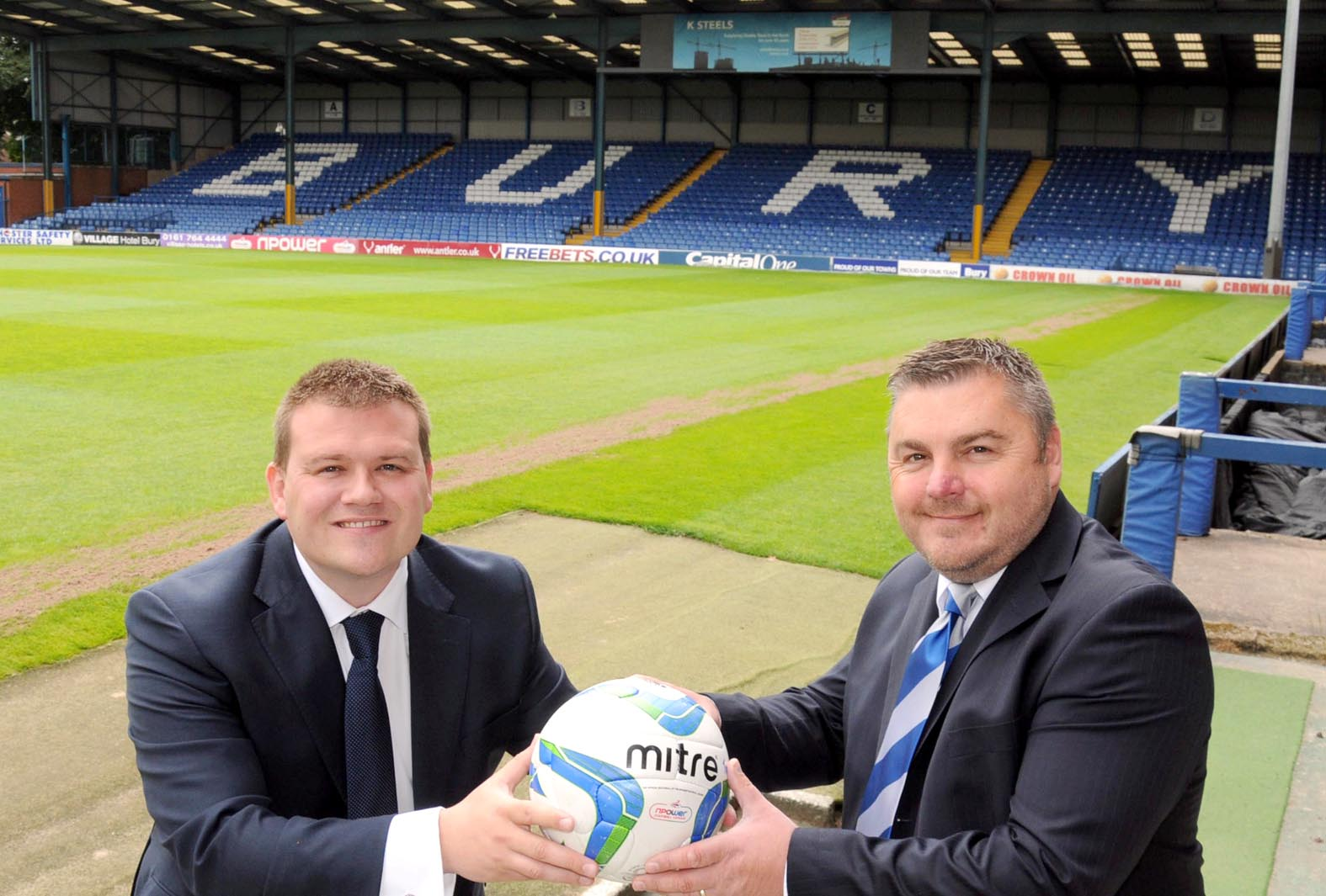 BOARD Bury chairman Stewart Day, left, and chief executive Glenn Thomas