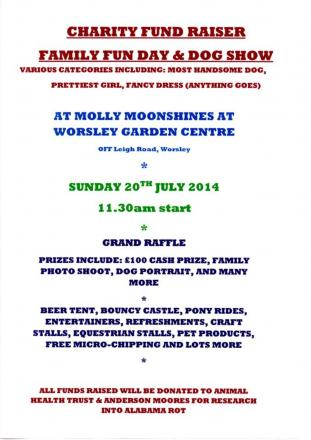 The fun day will raise money for research into Alabama Rot