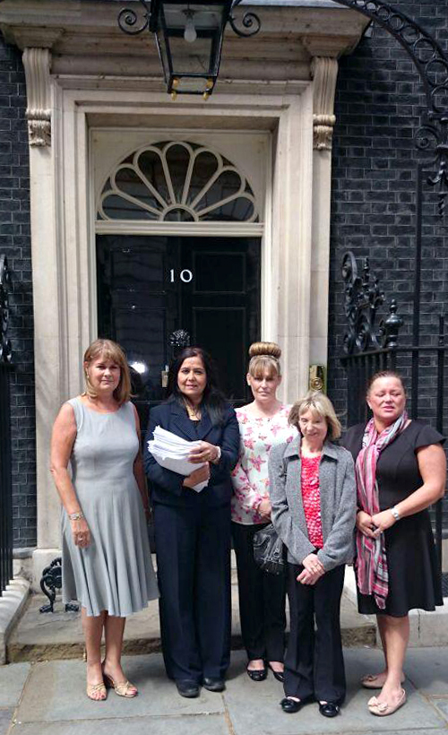 Yasmin Qureshi, second left, Nichola Williams, centre a