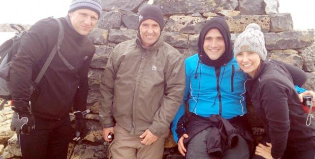 From left, Simon Stone, Paul Fulton, Jason Morris and Emma Hargreaves at the top of Ben Nevis