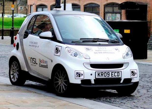 The Bolton News: The 'spy car' parked in Churchgate