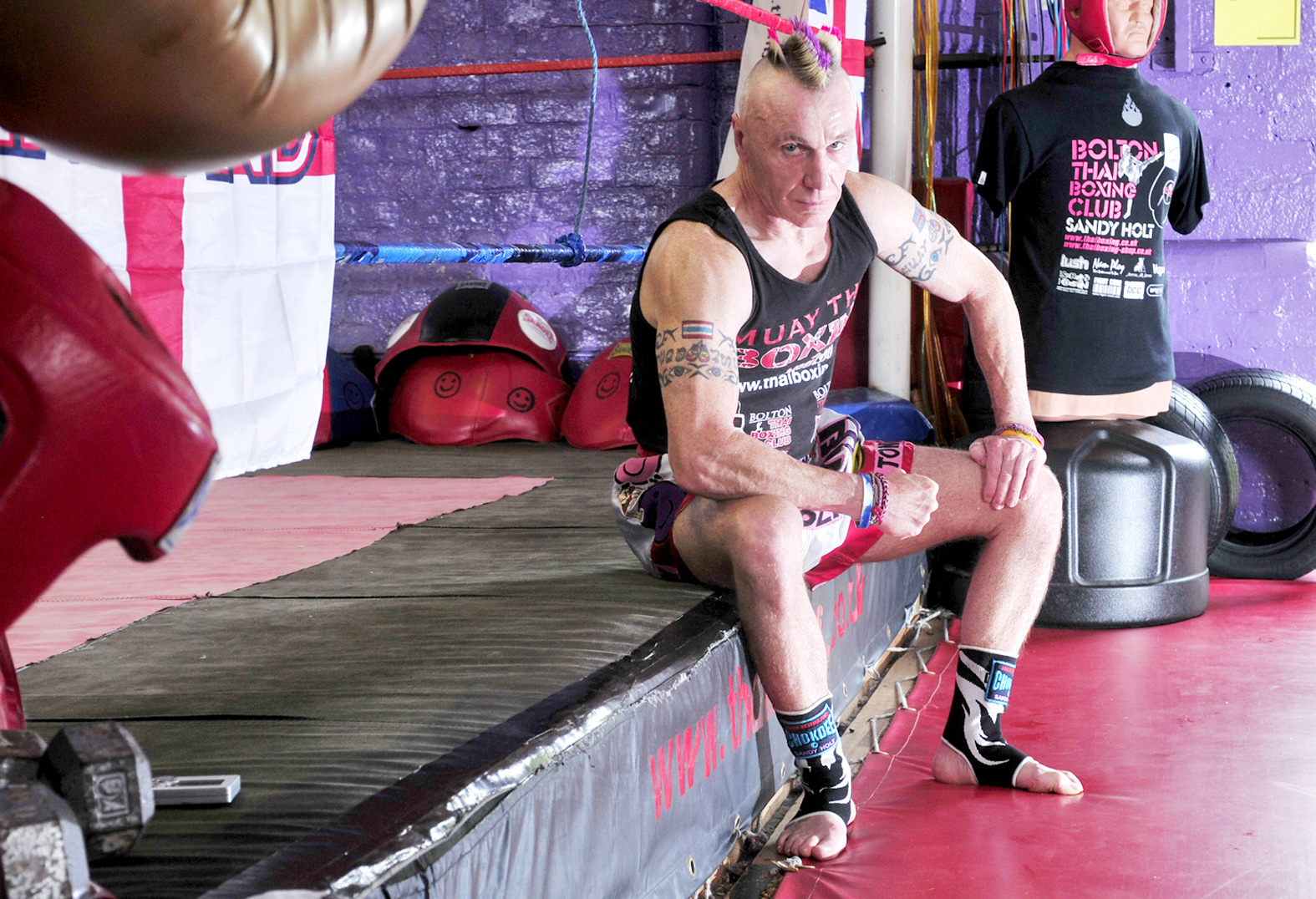 Sandy Holt at his Thai Boxing Club
