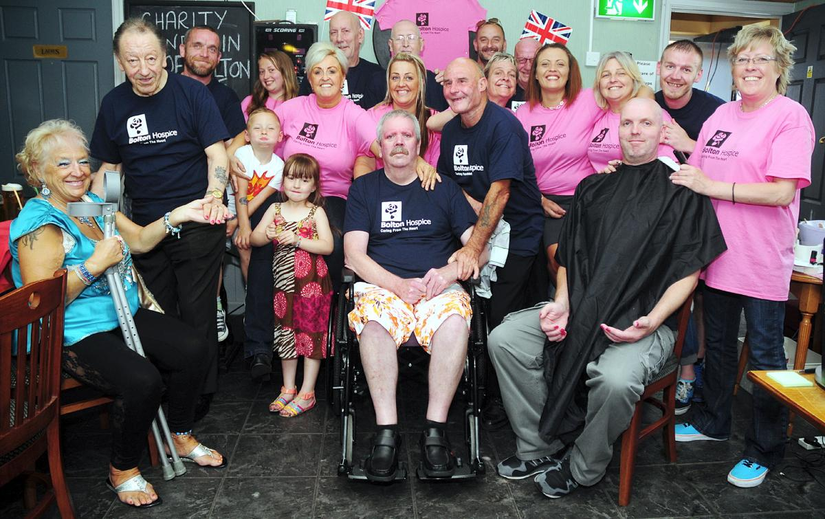 Men get nails done and heads shaved for Bolton Hospice   The Bolton News