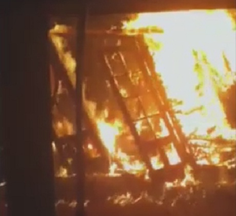 VIDEO: Fire destroys couple's garden just days before their wedding