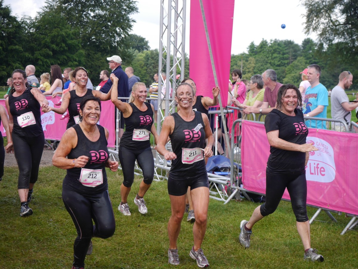 Group of Astley women get pretty muddy for charity
