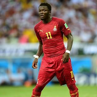Ghana's Sulley Muntari, pictured, has been suspended by Ghana along with Kevin-Prince Boateng