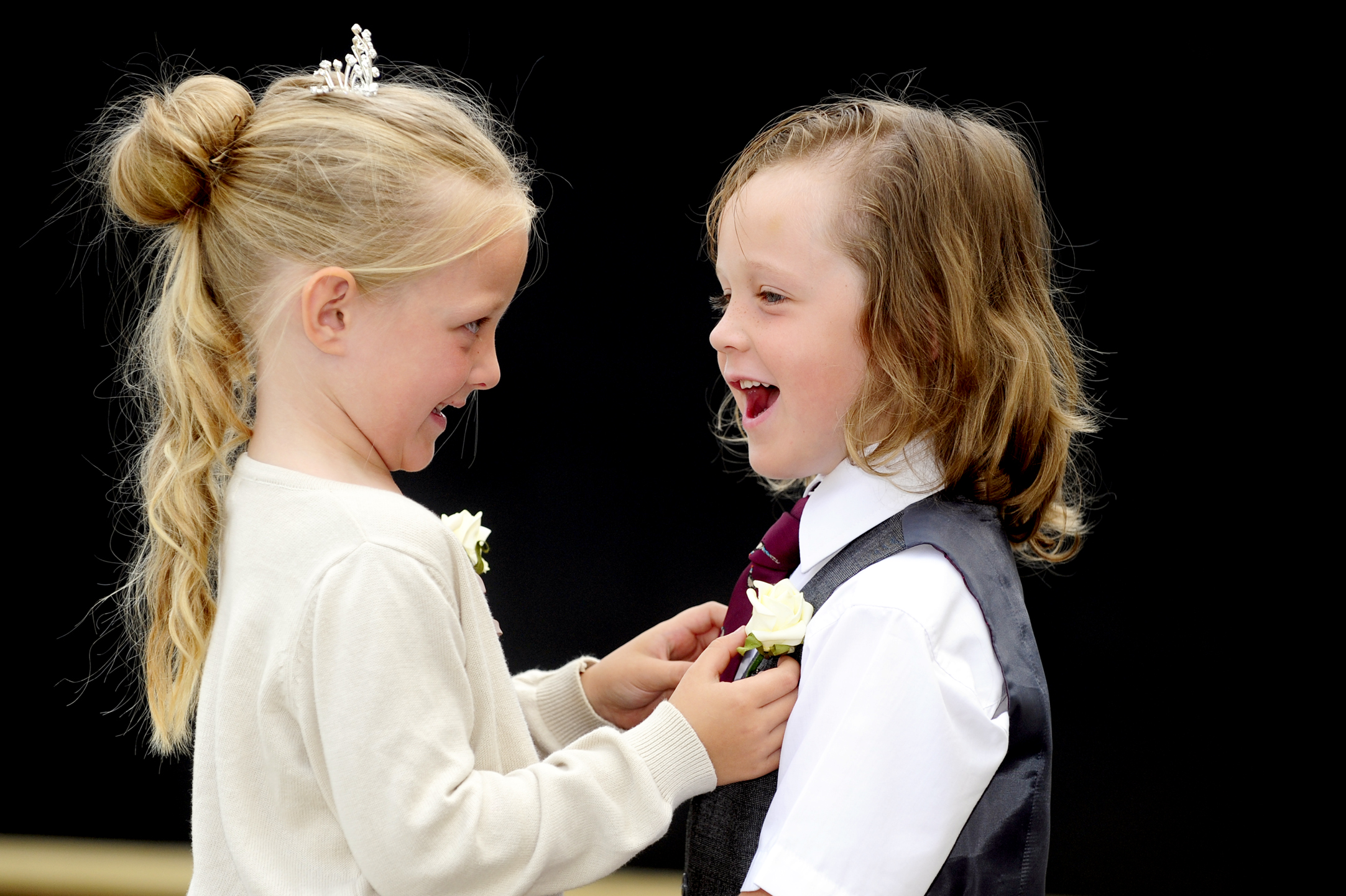 "Westhoughton reception school pupils hold a ""mock wedding"""