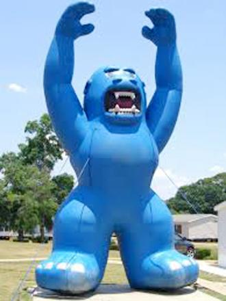 A 350 pound inflatable gorilla that was stolen from a car dealer in California. What would you do with it?