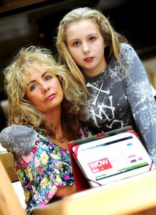 Sandra Moss and her 12-year-old daughter Natalia