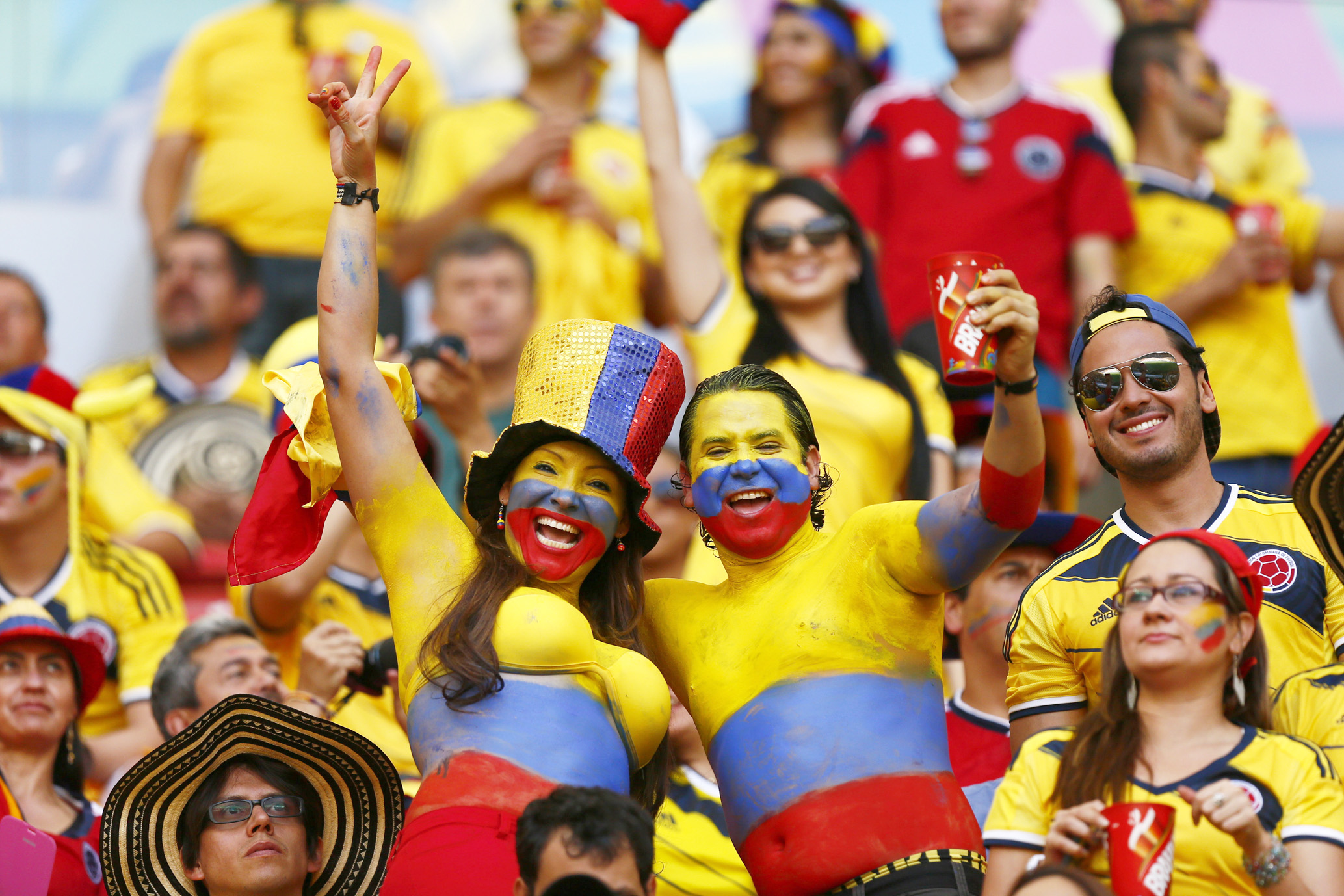 MARC ILES' WORLD CUP SIDESHOW: Waving fans are a big TV turn-of
