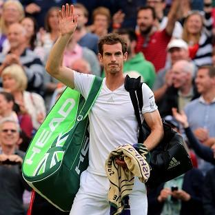 Andy Murray delighted the Centre Court crowd, but his family were elsewhere