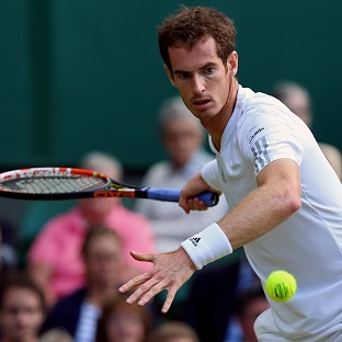 Andy Murray, pictured, will face Kevin Anderson in the fourth round