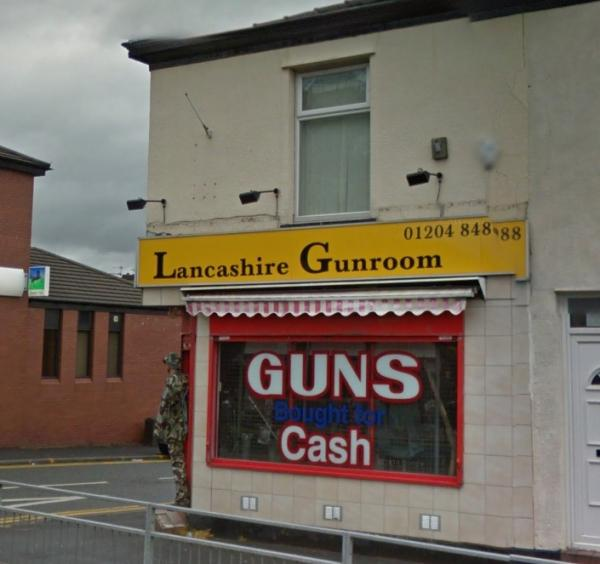 Lancashire Gun Room in Halliwell Road. Picture from Google Maps.
