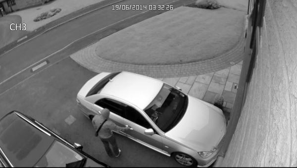 Hooded thief steals from cars in Egerton