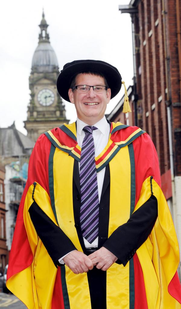 Council chief Sean Harriss gets honorary degree from University of Bolton