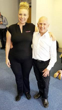 Jayne Borland with Wayne Sleep