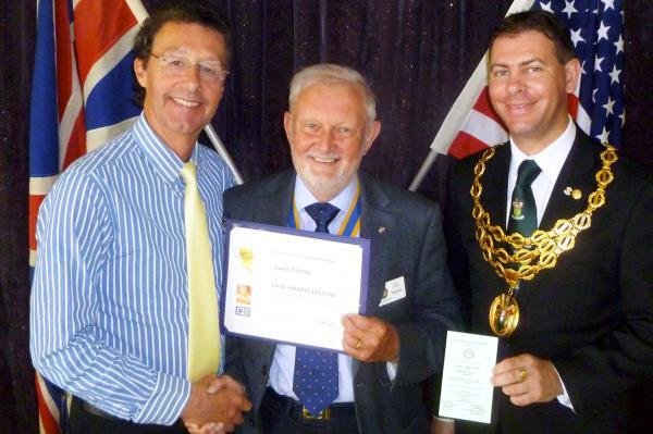 From left, are Stuart Whittle, Ted Wisedale and Richard Silvester, Mayor of Horwich