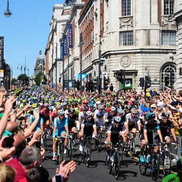 The Bolton News: Mark Cavendish and Chris Froome during the ceremonial start of The Tour De France 2014