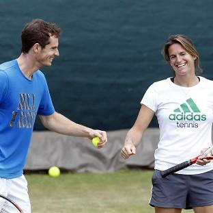Andy Murray, left, initially appointed Amelie Mauresmo as his coach on a trial basis for the grass-court season