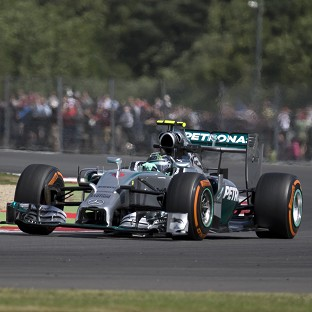 Nico Rosberg will start Sunday's British GP from pole position (AP)
