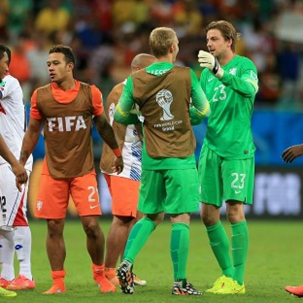 The Bolton News: Tim Krul, right, made a crucial impact from the bench
