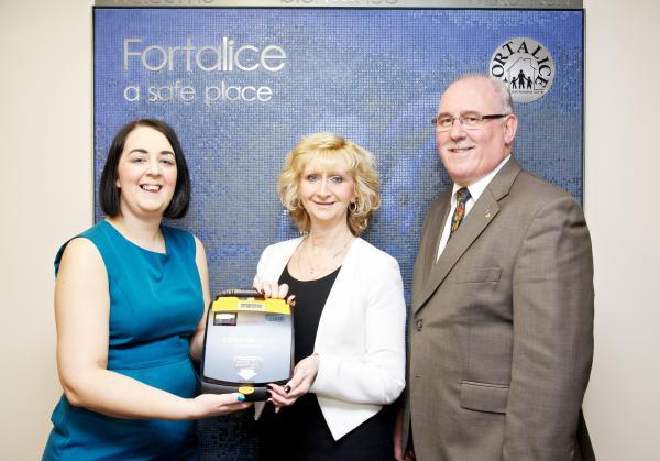 From left, Tracey Wilkinson, Gill Smallwood, director of services at Fortalice, and Peter Jones, of the Rotary Club