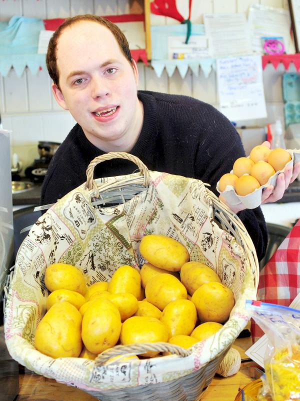 'Westhoughton market stall job has given my son a chance'