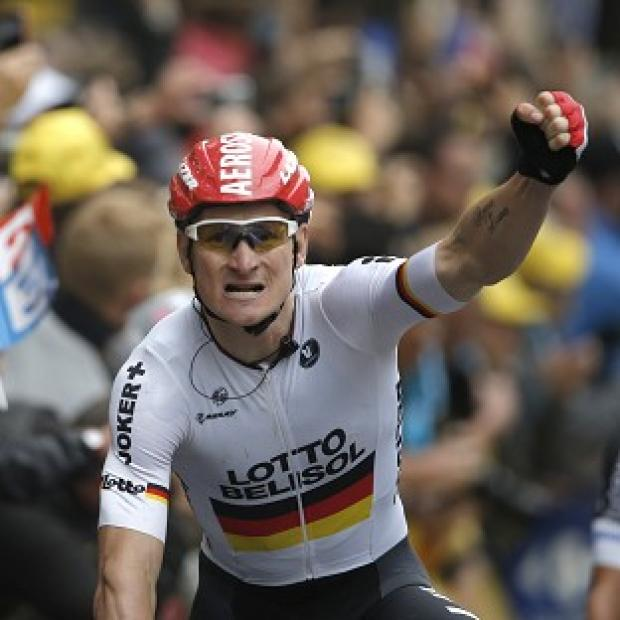The Bolton News: Andre Greipel, pictured, finished ahead of Alexander Kristoff and Samuel Dumoulin in Reims (AP)