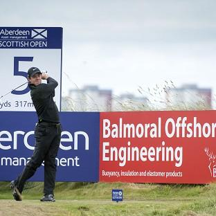Rory McIlroy leads the Scottish Open by one stroke