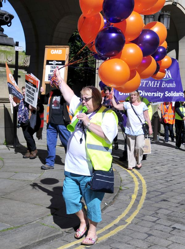 VIDEO: Bolton public sector workers walk out in UK's biggest national strike in decades
