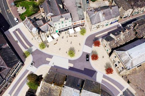 The planned new-look town centre