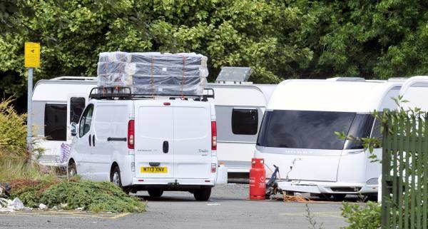 Travellers in Breightmet Street Car Park