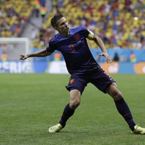 The Bolton News: Robin van Persie celebrates the first goal (AP)