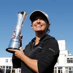 The Bolton News: Mo Martin lifts the trophy at Royal Birkdale