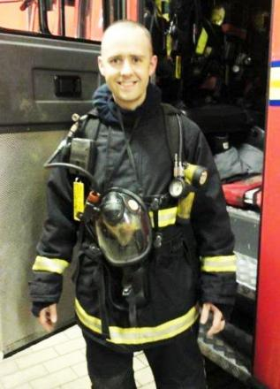 Firefighter Stephen Hunt