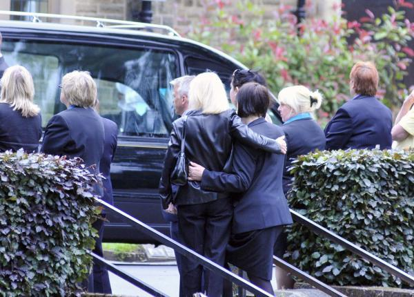 The Bolton News: Mourners at the funeral of Natalie Poole