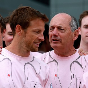 Jenson Button, left, and Ron Dennis, right, are aiming for a rosy future for McLaren