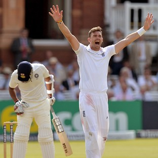 James Anderson, right, took four wickets on Thursday