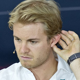 Nico Rosberg topped the times at the end of first practice for the German Grand Prix (AP)