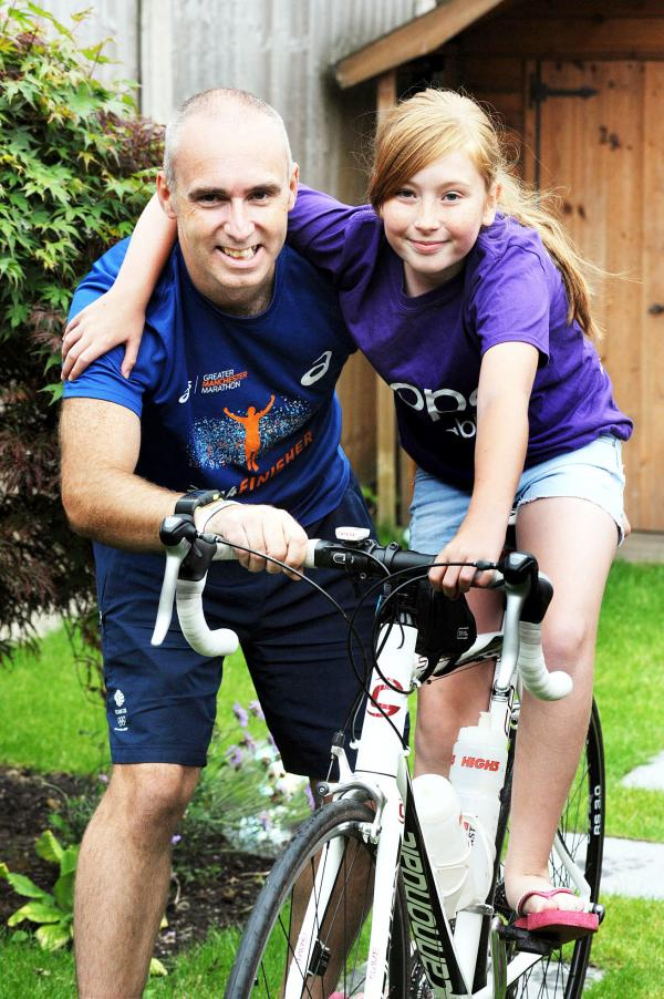 Stephen Knowles is ready for Sunday's Ironman, largely thanks to his daughter Hannah